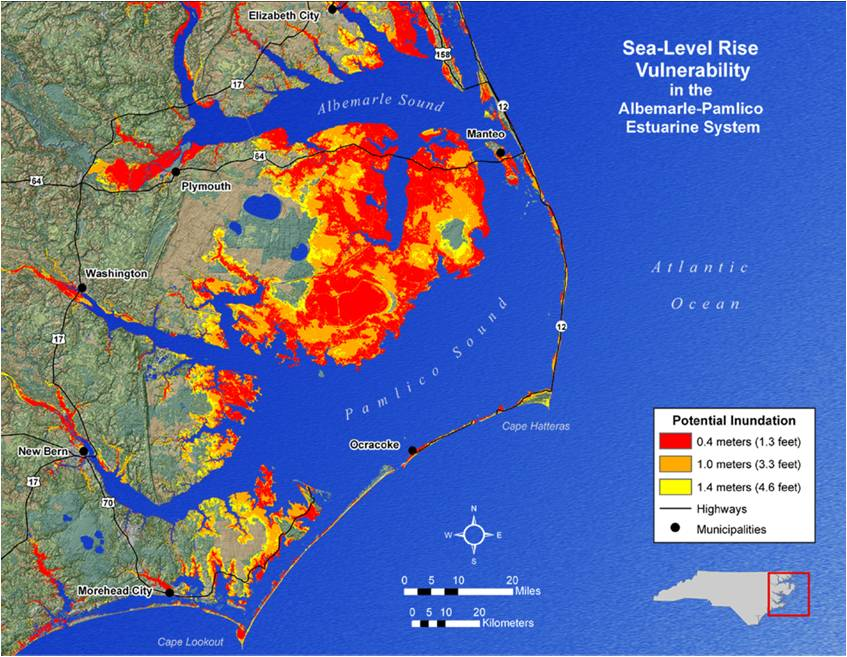 what does sea level rise have to do with it north carolina king